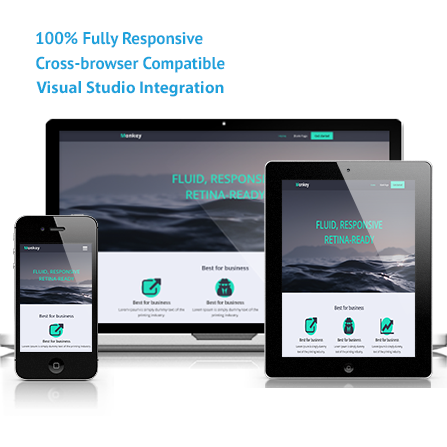 Monkey Asp Mvc Responsive Template Visual Studio Marketplace